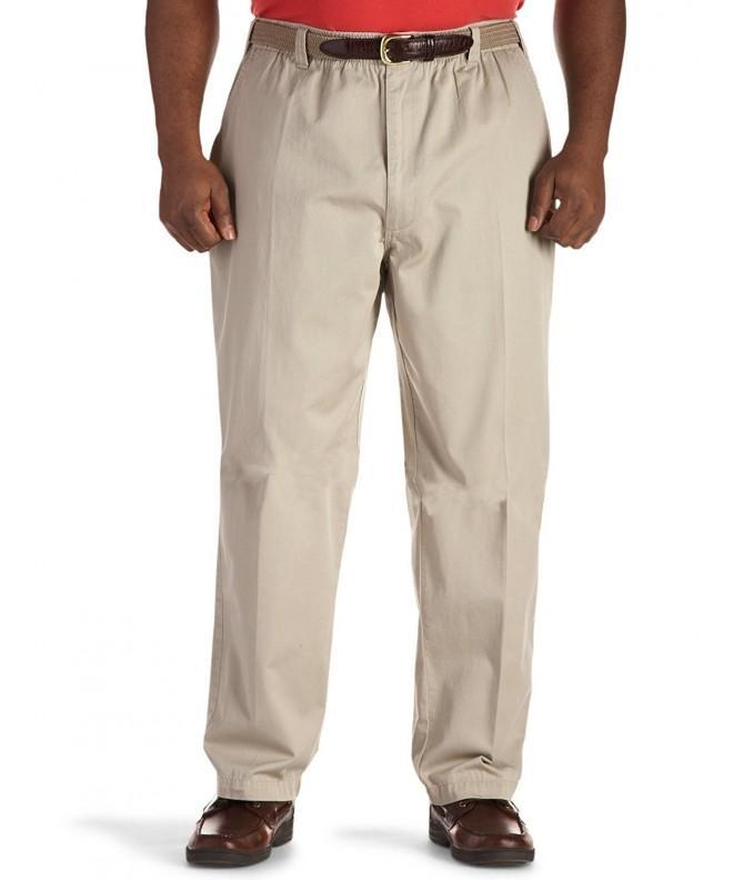 Harbor Bay Elastic Waist Twill Pants