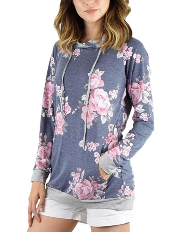 AlvaQ Printed Juniors Pullover Sweatshirts