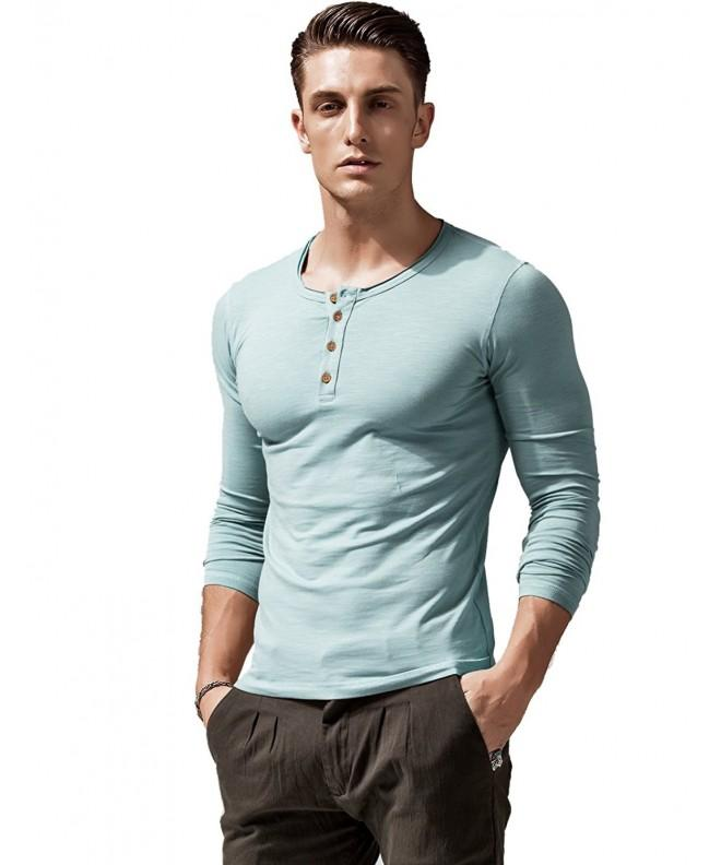 XShing Sleeve Henley Stretchy Athletic