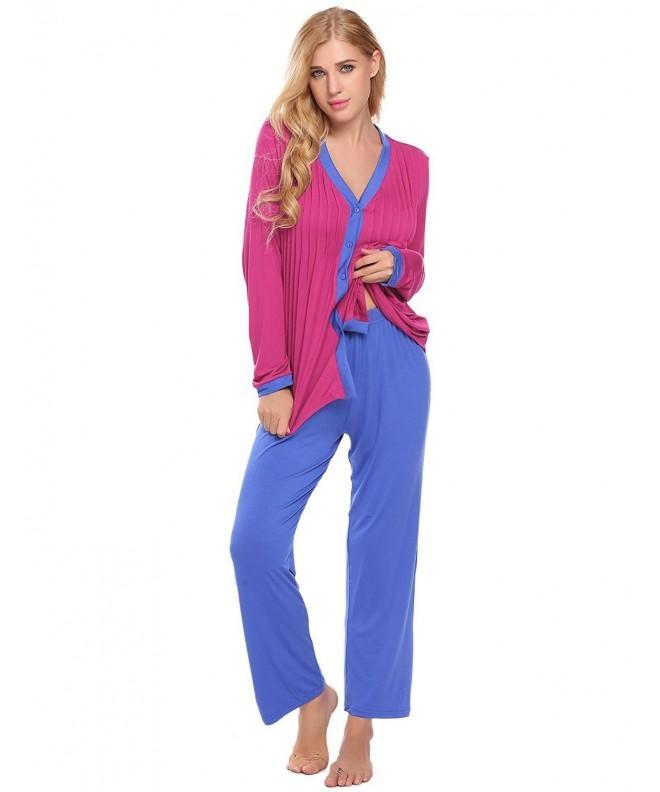 Langle Sleepwear Sleeve Chemise Roesred