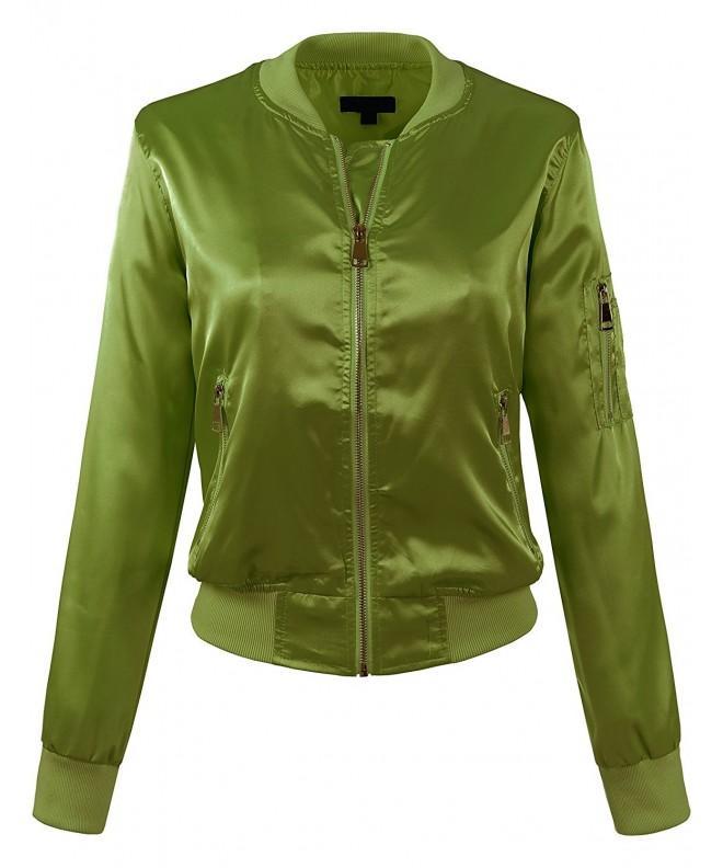 BEKTOME Womens Lightweight Classic Jacket L Olive