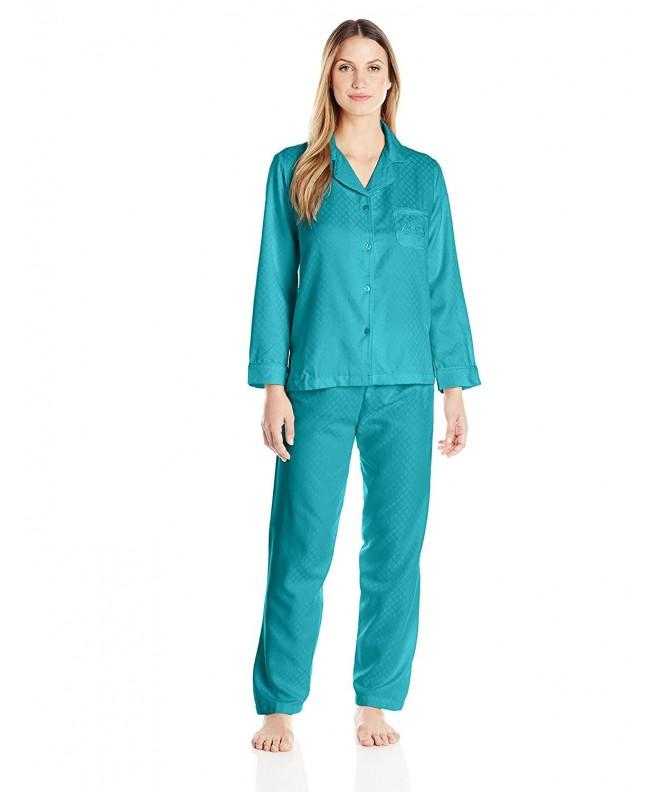 Miss Elaine Brushed Pajamas Peacock