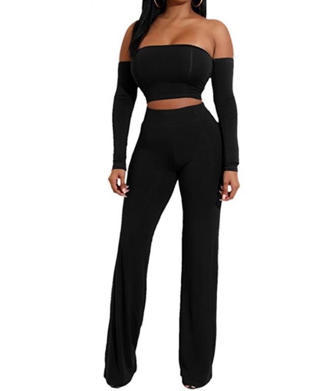 AVINE Jumpsuit Bandeau Trousers Sleeve Black