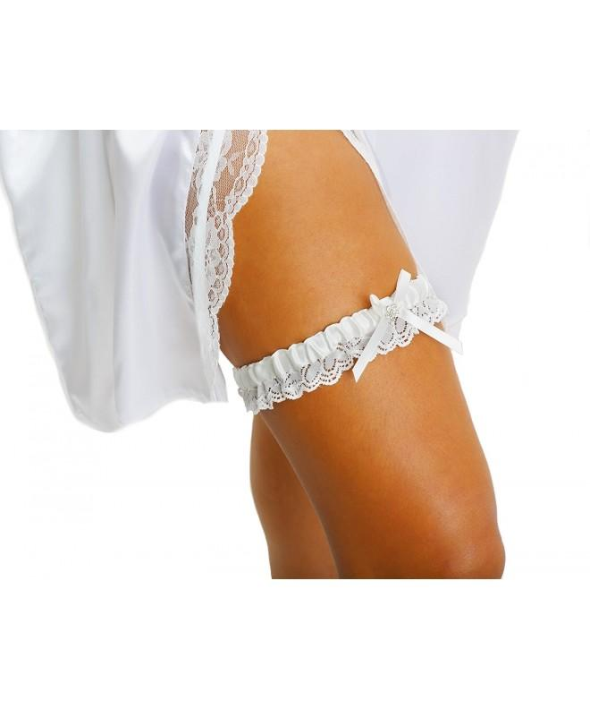 LR Bridal Wedding Garter Rhinestone