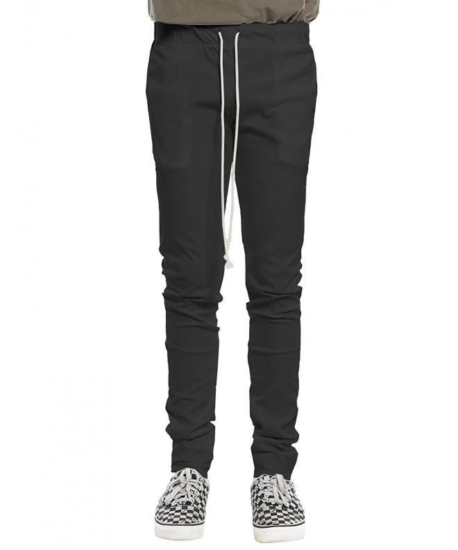 Basic Drawstring Pants Black Size