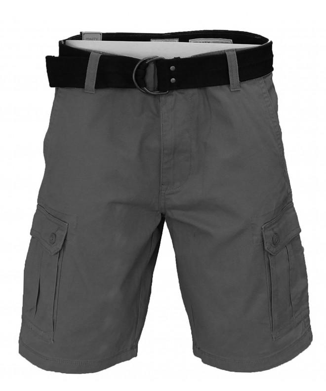 Trinity Belted Cargo Shorts Slate