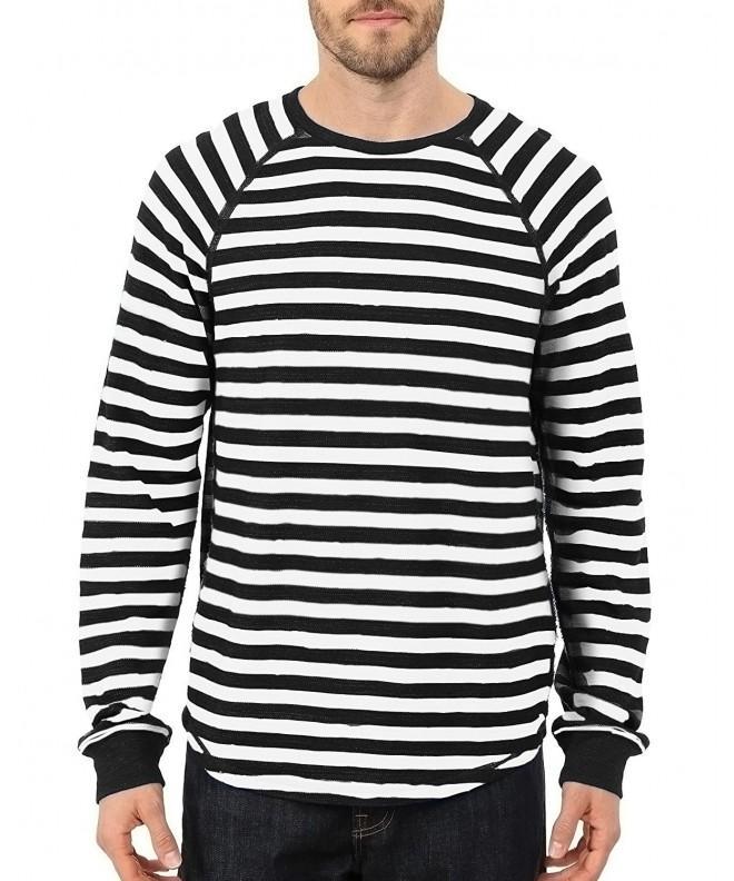 MODCHOK Shirt Sleeve T Shirt Striped