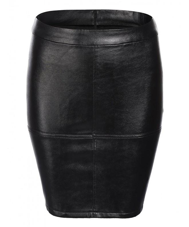 Chigant Womens Waist Leather Look Line