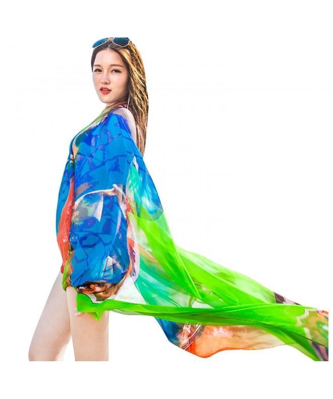 GERINLY Chiffon Sarong Wrap Butterflies