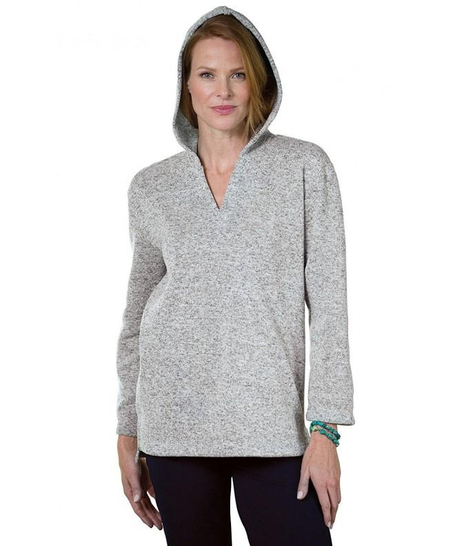 PajamaJeans Womens Sweatshirt Heather Granite