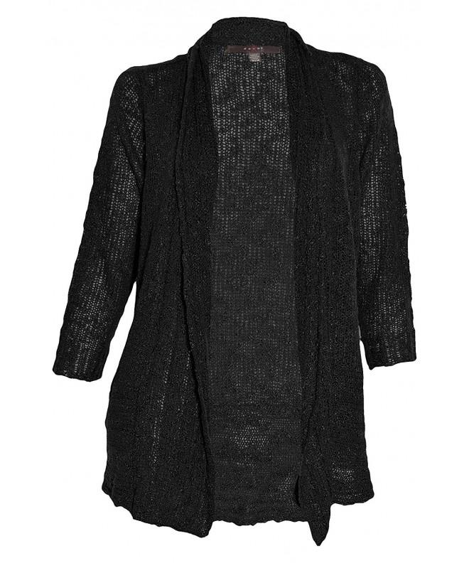Fever Sheer Cardigan Black Small