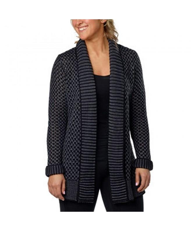 Matty Womens Collar Cardigan Charcoal
