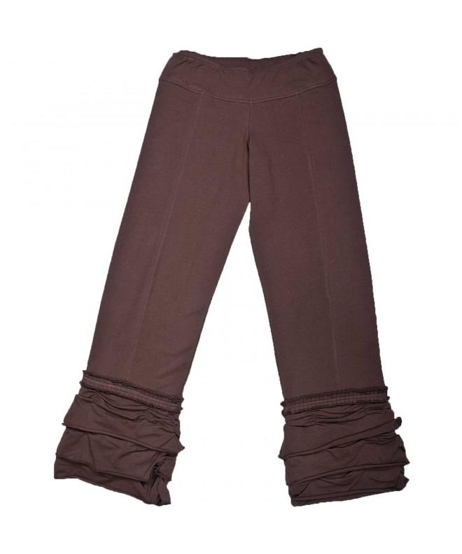 Long Organic Cotton Ruffle Pant