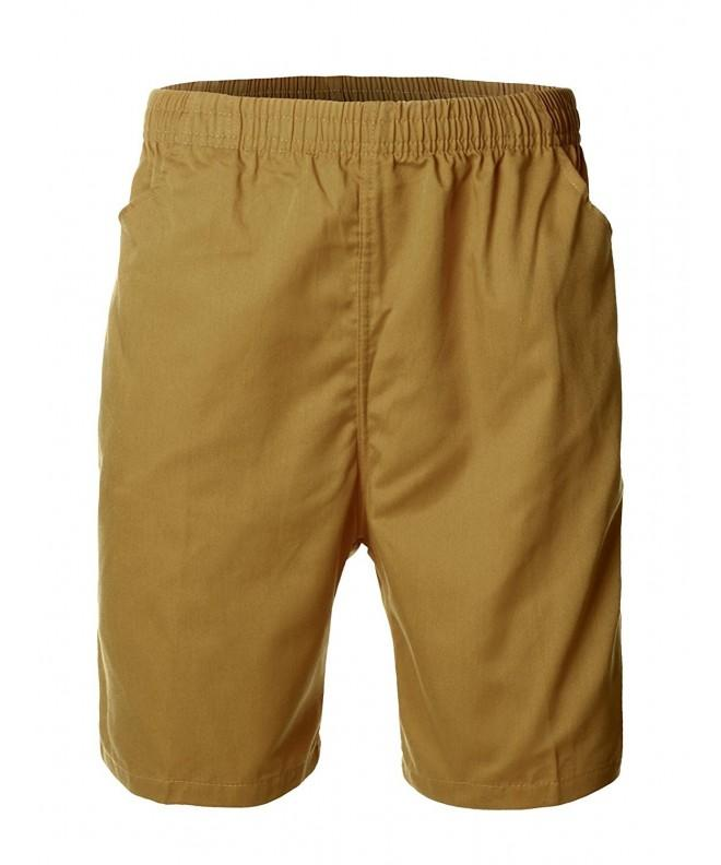 Casual Basic Design Cotton Shorts