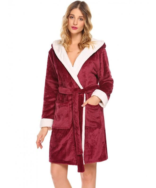 Donkap Womens Kimono Fleece Bathrobe