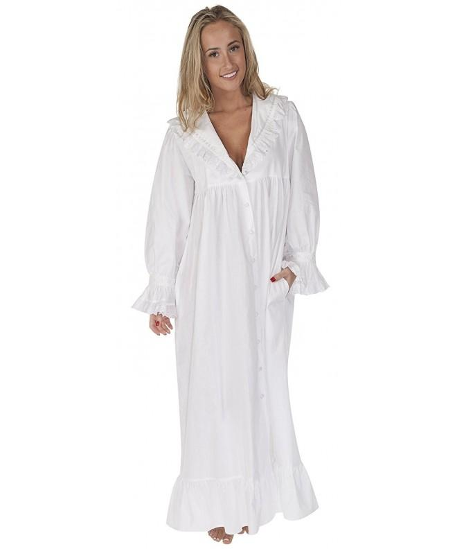 100 Cotton Nightgown Robe Pockets