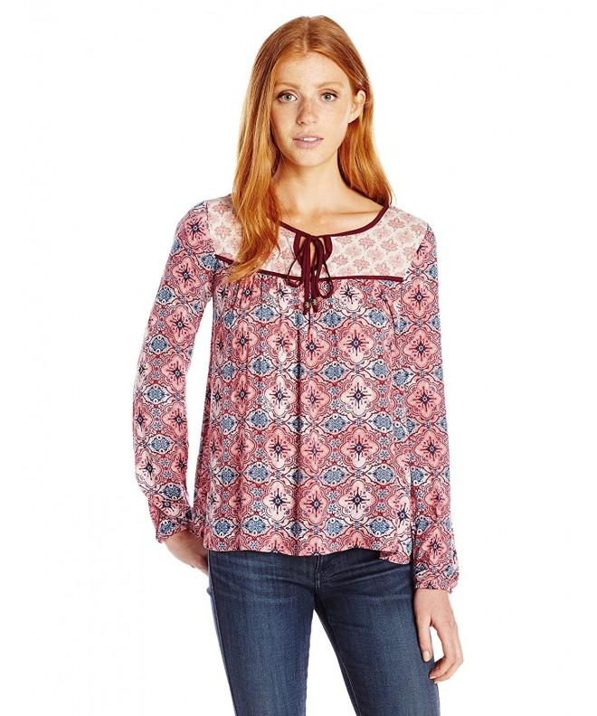 Jolt Womens Printed Sleeve Peasant