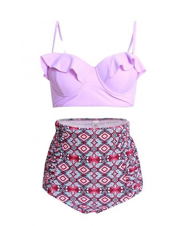 Rufflrswin Vintage Waisted Bikinis Strappy