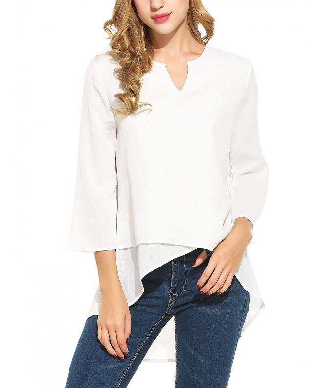 ELESOL Womens Sleeve Chiffon T Shirt