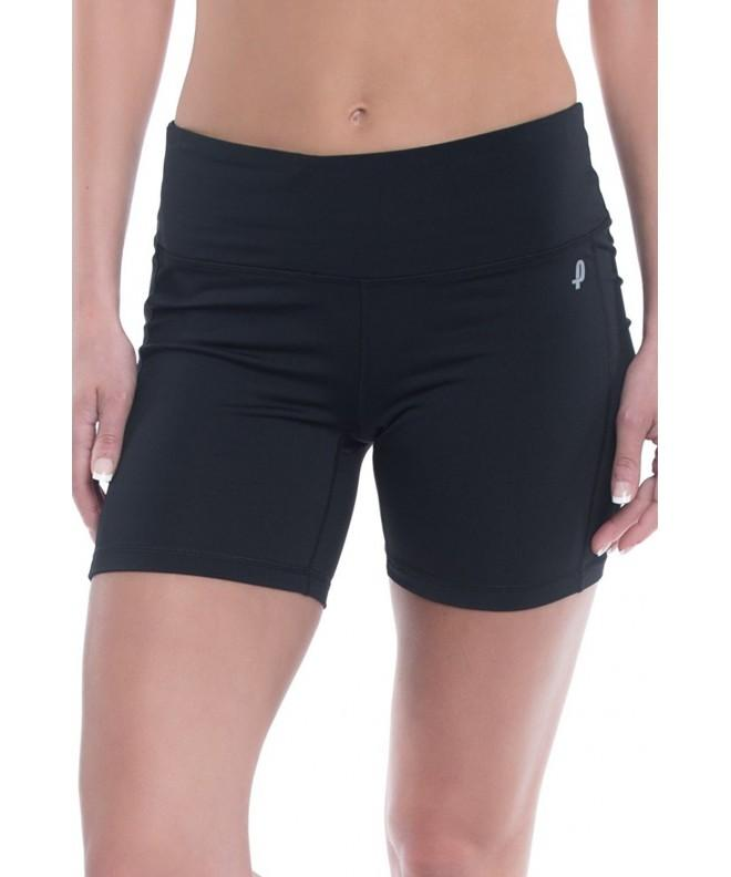 Penn Womens Compression Shorts Mid Thigh