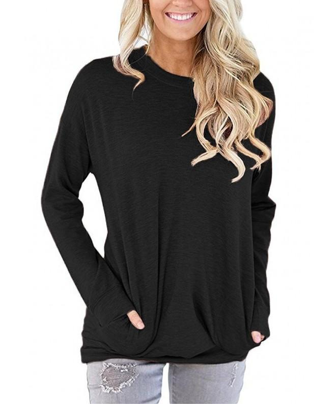 onlypuff Shirts Casual Sweatshirt Pockets