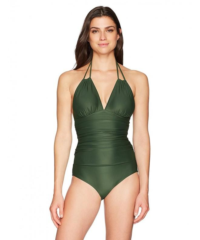 Coastal Blue Swimwear Convertible Olive