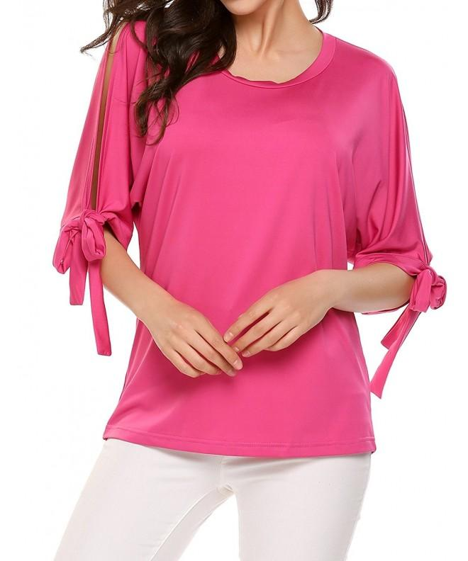 Womens Casual Summer Shoulder Sleeve