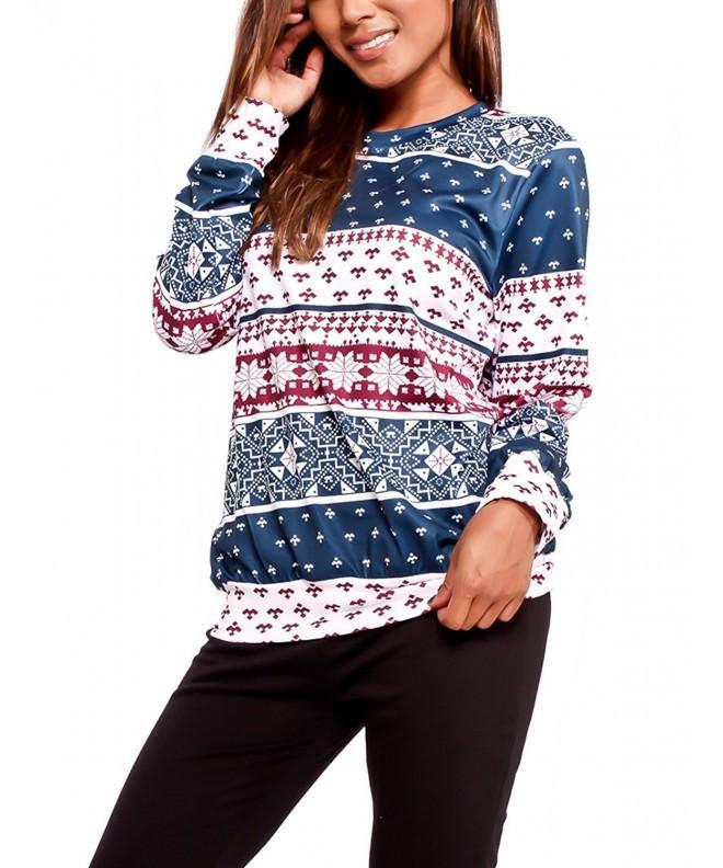 Queen M Snowflake Reindeer Sweatshirt Christmas