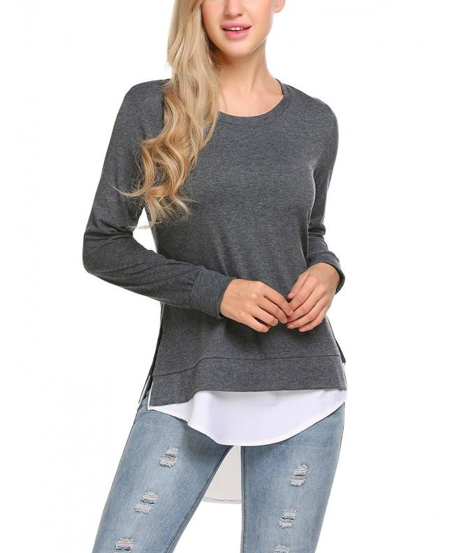 Zeagoo Womens Cashmere Layered Pullover