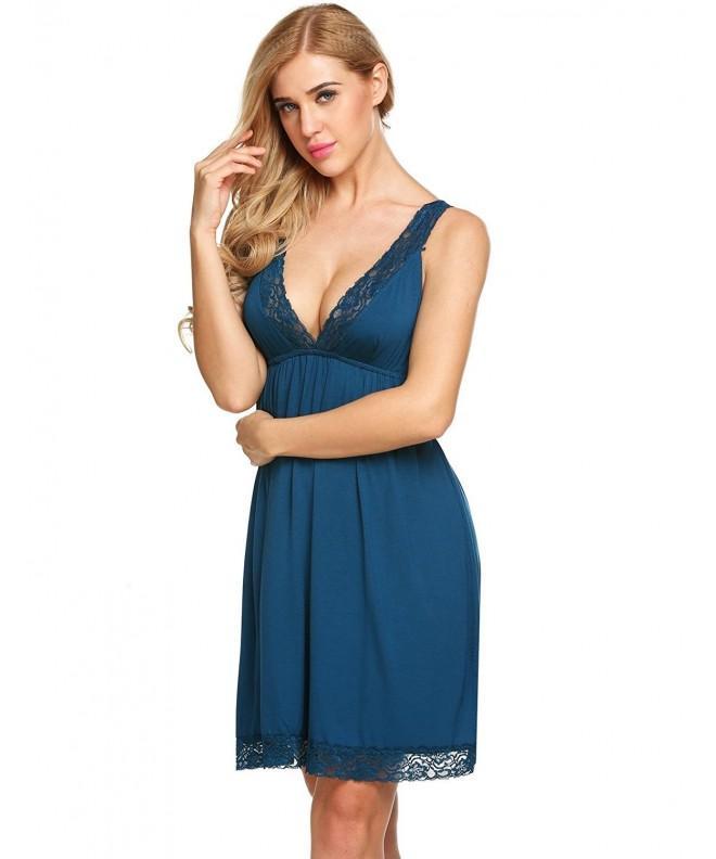 Lamore Sleeveless Patchwork Nightgown Sleepwear