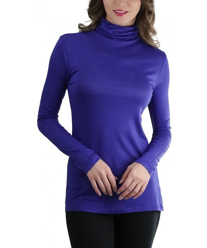 ToBeInStyle Womens Turtleneck Long Sleeve