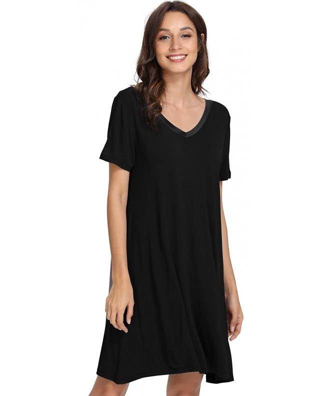 GYS Womens Sleeve Nightshirt Nightgown