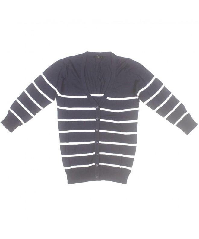 Limited Womens Sleeve Striped Cardigan