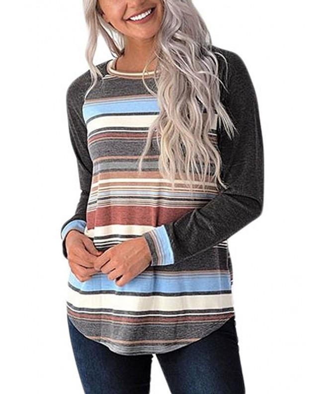 Graces Secret Womens Sleeve Striped