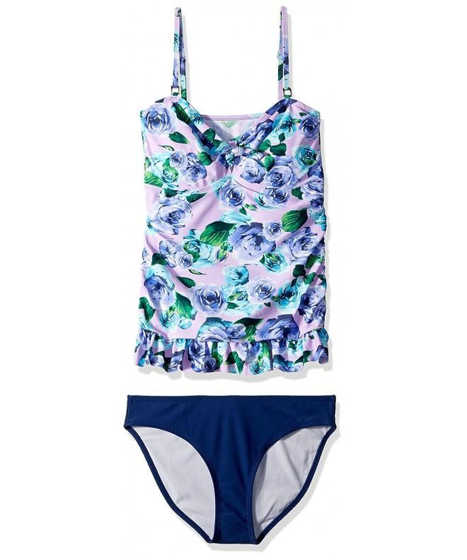 Piece Tankini Swim Medium Lilac