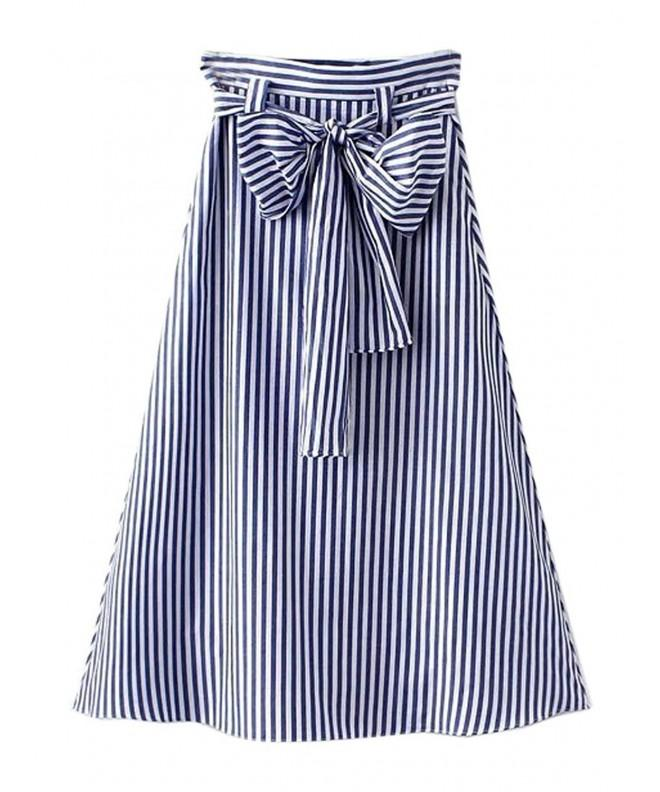 Choies Womens Stripe Print Bowknot