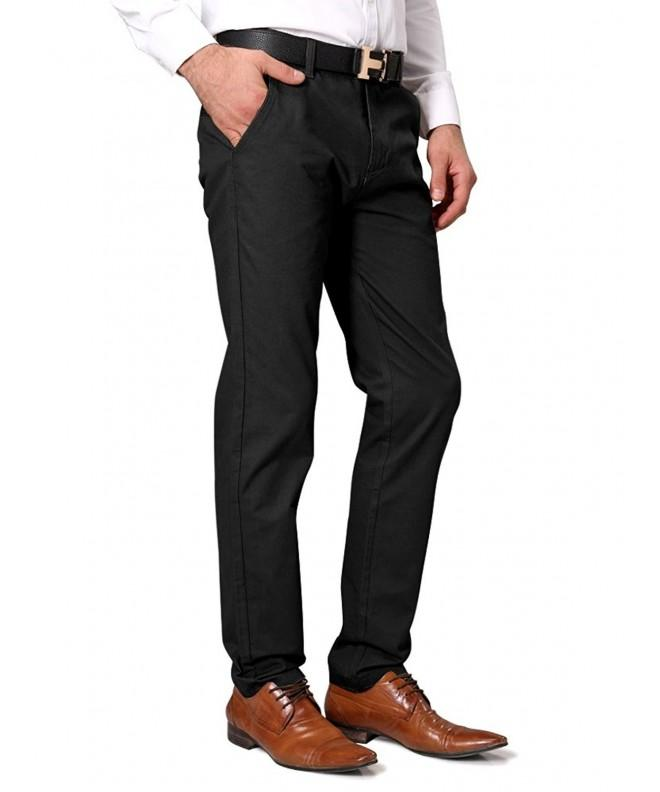OCHENTA Casual Tapered Flat Front Pants