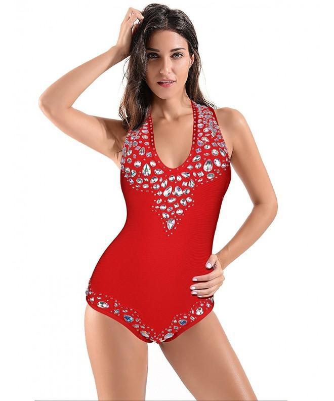 Meilun Bandage Bodysuit Swimwear Bathsuit