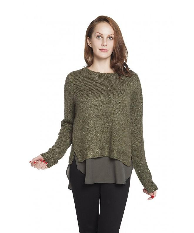 RLM Chiffon Layered Pullover Sweater