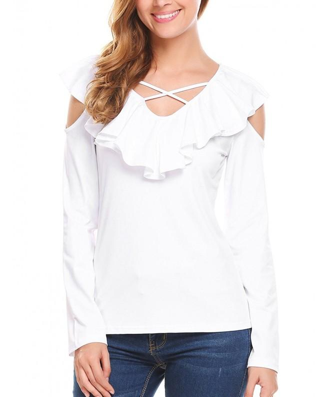 Zeagoo Womens Shoulder Sleeve Blouses