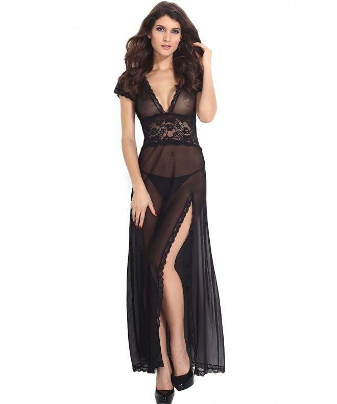 Amoretu Womens Sheer Dress Lingerie