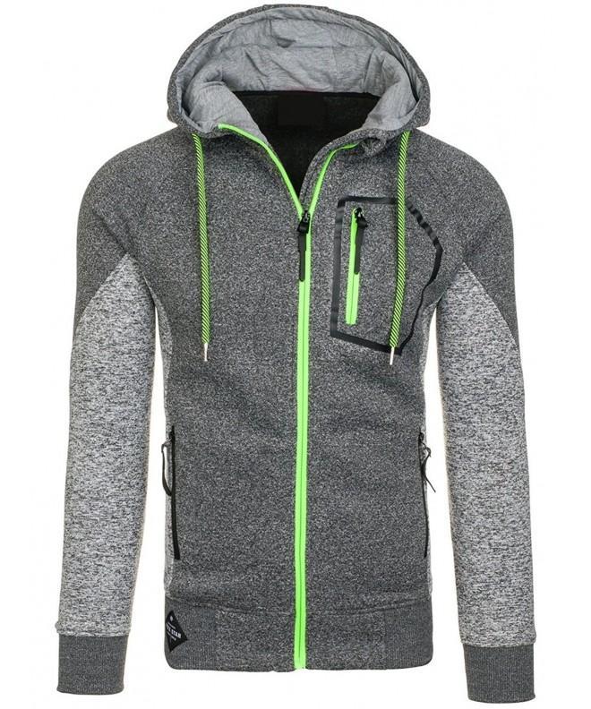 Mrignt Hooded Fleece Pockets Sweatshirt