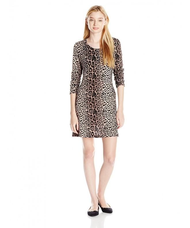 Angie Juniors Leopard Sweater Medium