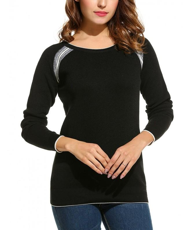 ANGVNS Womens Crewneck Pullover Sweater
