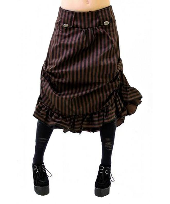 Altissimo Womens Steampunk Ruffle Stripe