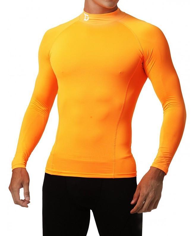 Defender Compression Shirts Football Orange_L