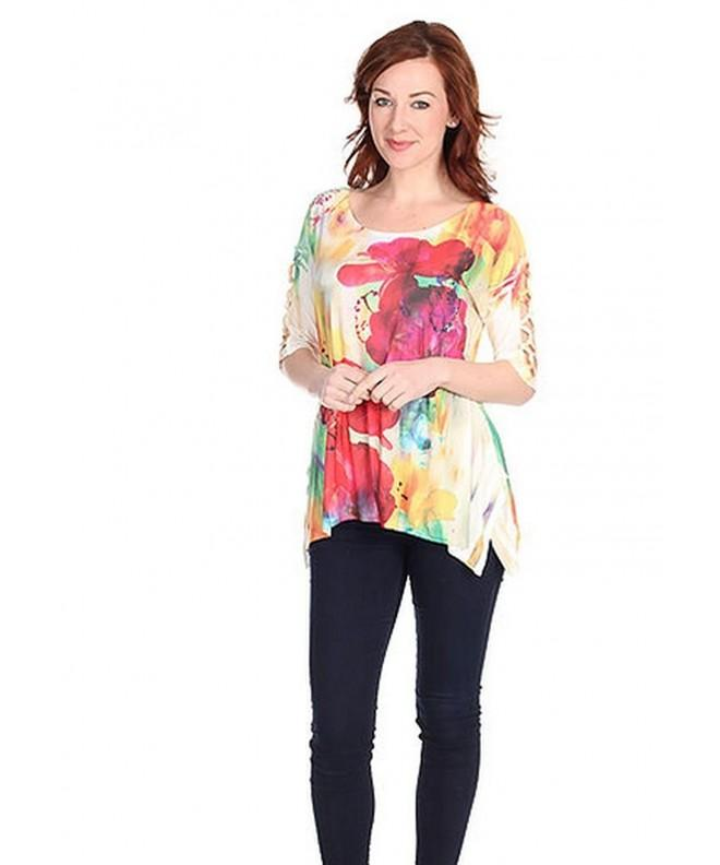 Sea Anchor Womens Asymmetrical Multi Color