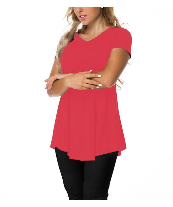 CPOKRTWSO Women V Neck Sleeve T Shirt