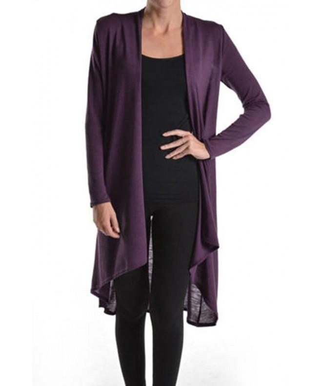 Lovely Hi Low Sleeve Cardigan Eggplant