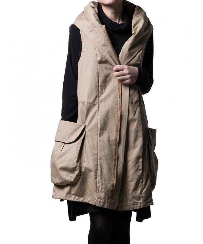 Minibee Sleeveless Overcoat Detachable Pockets